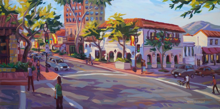Summer on State Street-- 15x30""