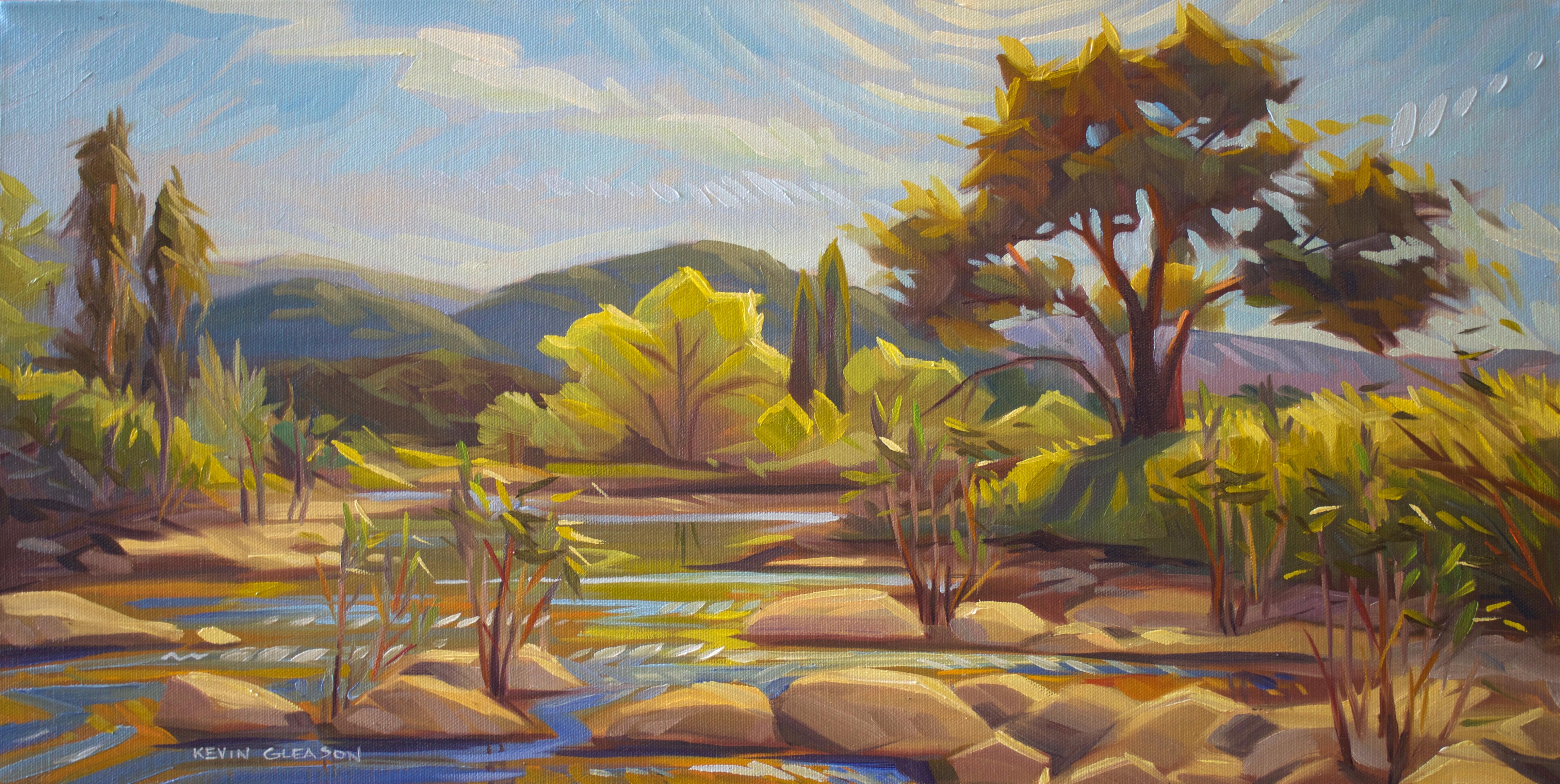 Afternoon glare santa ynez river kevin gleason freerunsca Gallery