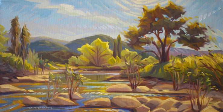 """Santa Ynez River-- 12x24"""""""
