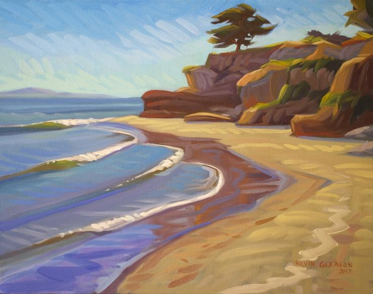 """Ledbetter Beach-- 14x18"""""""
