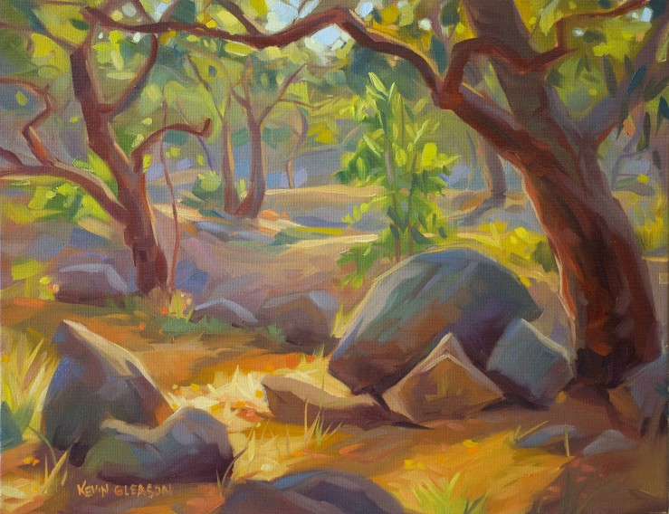 Sunny Oak Forest--14x18""