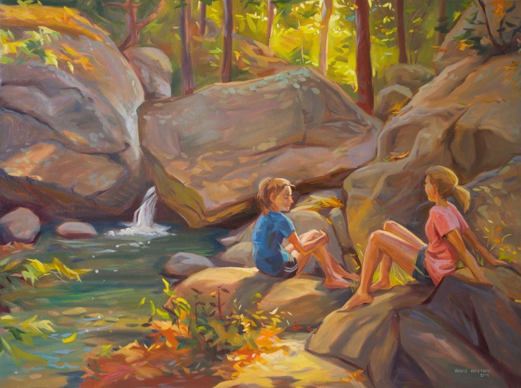 A Good Place for a Rest-- 36x48""
