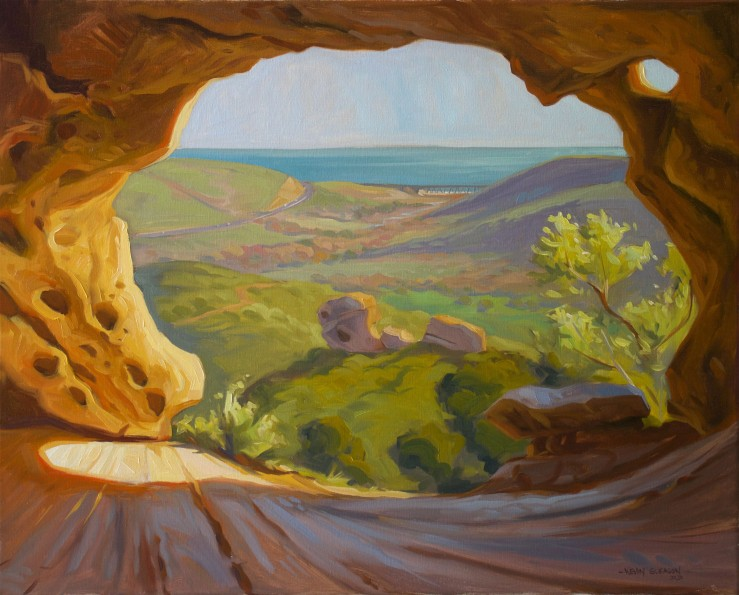 "The Wind Caves--Gaviota -24x30"""