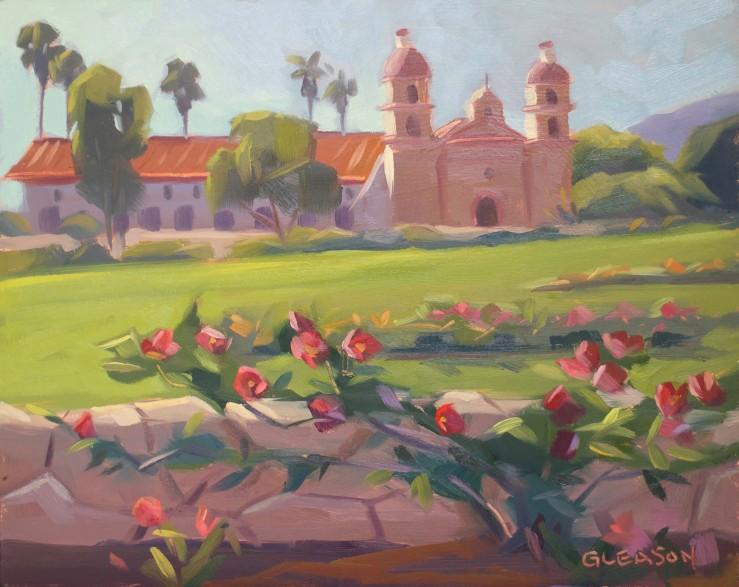 """Mission Rose Garden-- 8x10"""""""